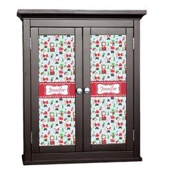 Santas w/ Presents Cabinet Decal - Custom Size (Personalized)