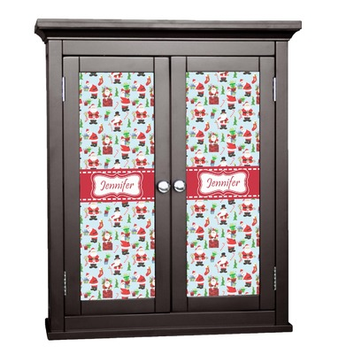 Santa and Presents Cabinet Decal - Custom Size w/ Name or Text