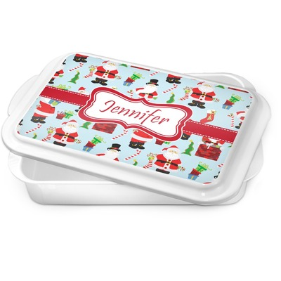 Santa and Presents Cake Pan w/ Name or Text