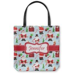 Santas w/ Presents Canvas Tote Bag (Personalized)