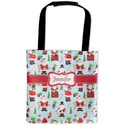 Santas w/ Presents Auto Back Seat Organizer Bag (Personalized)