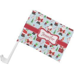 Santas w/ Presents Car Flag (Personalized)