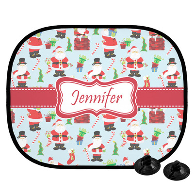 Santa and Presents Car Side Window Sun Shade w/ Name or Text