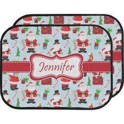 Santas w/ Presents Car Floor Mats (Back Seat) (Personalized)