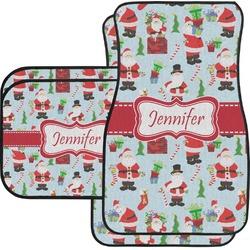Santas w/ Presents Car Floor Mats (Personalized)