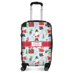 Santas w/ Presents Suitcase (Personalized)