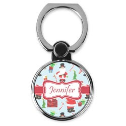 Santas w/ Presents Cell Phone Ring Stand & Holder (Personalized)