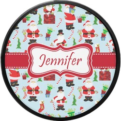 Santas w/ Presents Round Trailer Hitch Cover (Personalized)