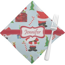 Santas w/ Presents Napkins (Set of 4) (Personalized)