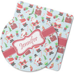 Santa and Presents Rubber Backed Coaster (Personalized)