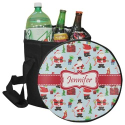 Santas w/ Presents Collapsible Cooler & Seat (Personalized)