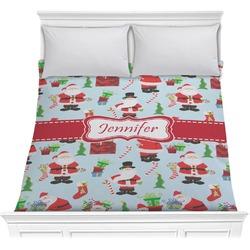 Santas w/ Presents Comforter (Personalized)
