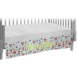 Santas w/ Presents Crib Skirt (Personalized)