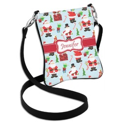 Santa and Presents Cross Body Bag - 2 Sizes (Personalized)