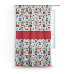 Santas w/ Presents Curtain (Personalized)