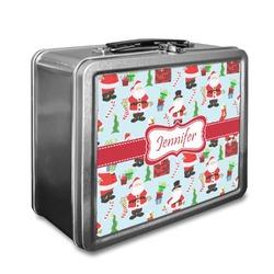Santas w/ Presents Lunch Box (Personalized)