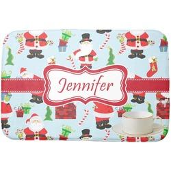 Santas w/ Presents Dish Drying Mat (Personalized)