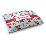 Santas w/ Presents Dog Bed (Personalized)