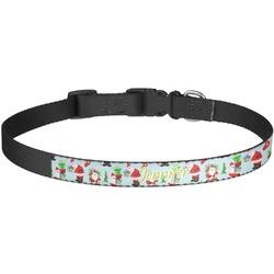 Santas w/ Presents Dog Collar - Large (Personalized)