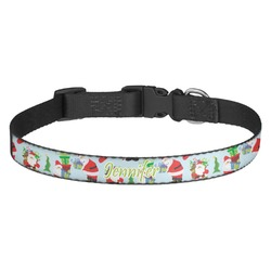 Santas w/ Presents Dog Collar - Multiple Sizes (Personalized)