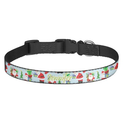 Santa and Presents Dog Collar (Personalized)