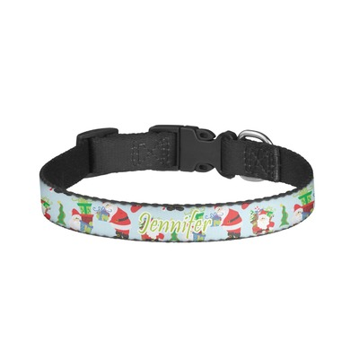 Santa and Presents Dog Collar - Small (Personalized)