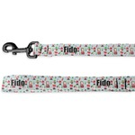 Santa and Presents Deluxe Dog Leash (Personalized)