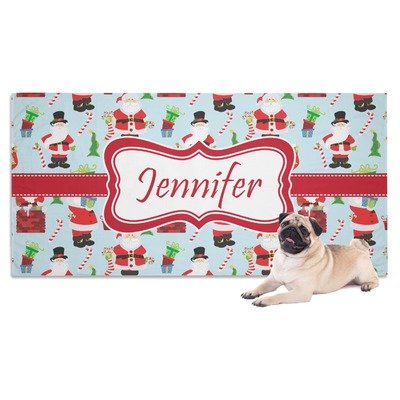 Santa and Presents Dog Towel w/ Name or Text