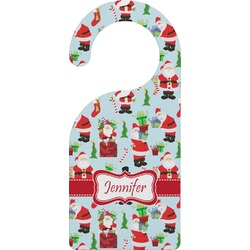 Santas w/ Presents Door Hanger (Personalized)