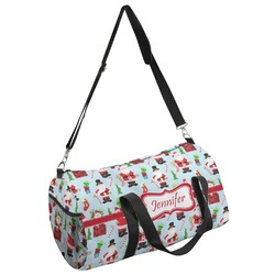 Santas w/ Presents Duffel Bag - Multiple Sizes (Personalized)