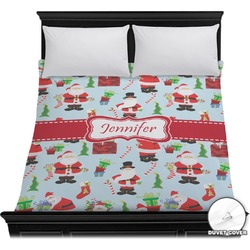 Santas w/ Presents Duvet Cover (Personalized)