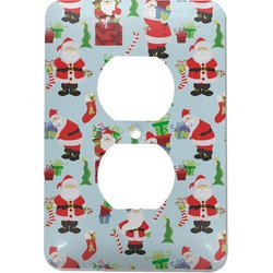 Santas w/ Presents Electric Outlet Plate (Personalized)