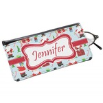 Santas w/ Presents Genuine Leather Eyeglass Case (Personalized)