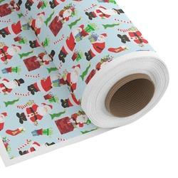 Santas w/ Presents Custom Fabric by the Yard (Personalized)