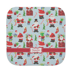Santa and Presents Face Towel w/ Name or Text