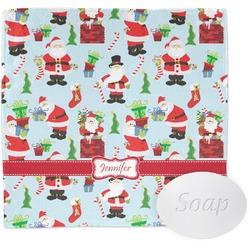 Santa and Presents Washcloth w/ Name or Text
