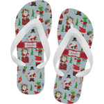 Santa and Presents Flip Flops (Personalized)