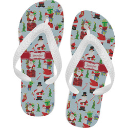 Santas w/ Presents Flip Flops (Personalized)