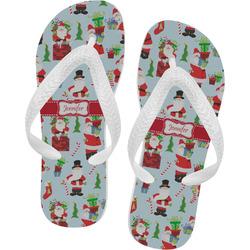 Santas w/ Presents Flip Flops (Personalized)