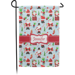 Santa and Presents Garden Flag - Single or Double Sided (Personalized)