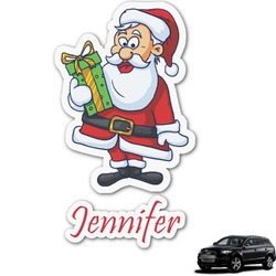 Santas w/ Presents Graphic Car Decal (Personalized)