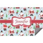 Santas w/ Presents Indoor / Outdoor Rug (Personalized)