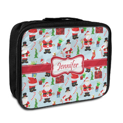 Santas w/ Presents Insulated Lunch Bag (Personalized)