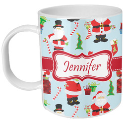 Santas w/ Presents Plastic Kids Mug (Personalized)