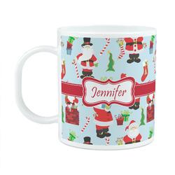 Santas w/ Presents Plastic Kids Mug (Personalized)