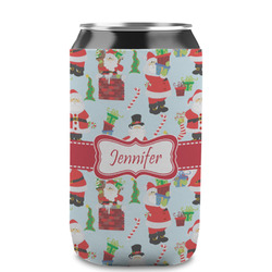 Santas w/ Presents Can Sleeve (12 oz) (Personalized)