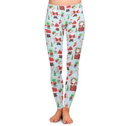 Santas w/ Presents Ladies Leggings (Personalized)