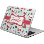 Santa and Presents Laptop Skin - Custom Sized w/ Name or Text