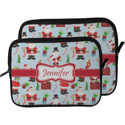 Santa and Presents Laptop Sleeve / Case (Personalized)