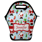 Santa and Presents Lunch Bag w/ Name or Text